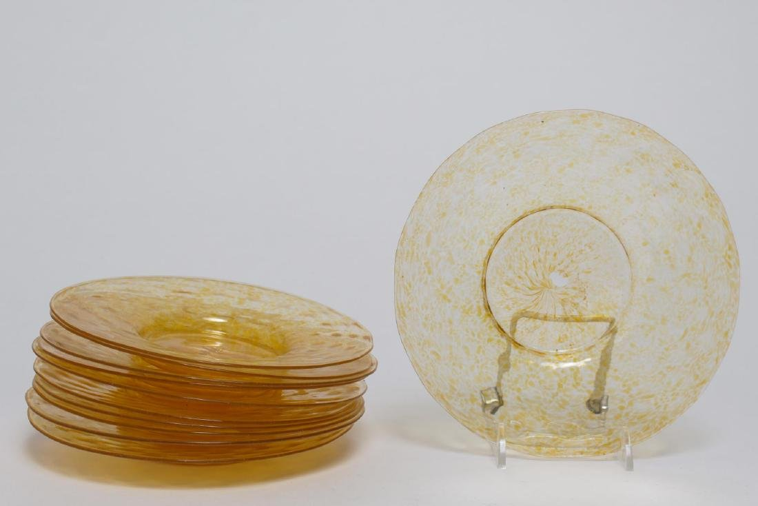 Salviati Murano Venetian Dolphin Glassware c 1950s - 2