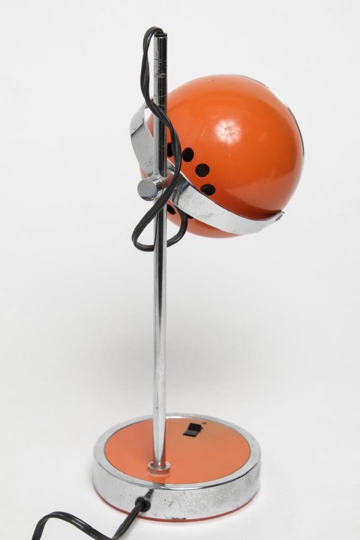 Hamilton Mid-Century Modern Orange Desk/Ball Lamp - 2