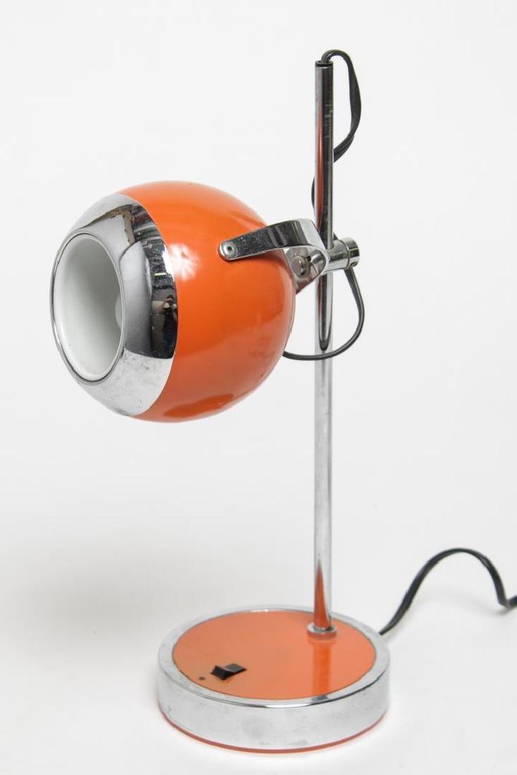 Hamilton Mid-Century Modern Orange Desk/Ball Lamp - 3