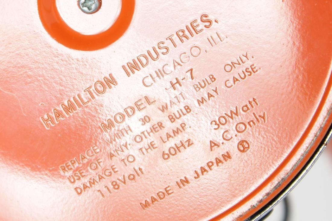 Hamilton Mid-Century Modern Orange Desk/Ball Lamp - 4