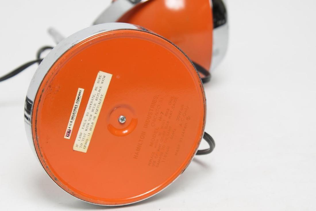 Hamilton Mid-Century Modern Orange Desk/Ball Lamp - 5