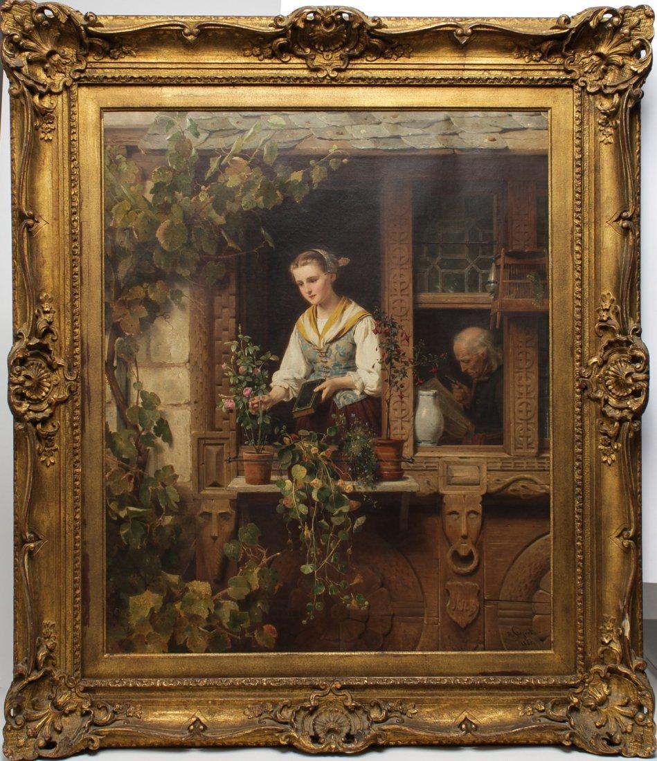 August Friedrich Siegert (German, 1820-1883)- Oil