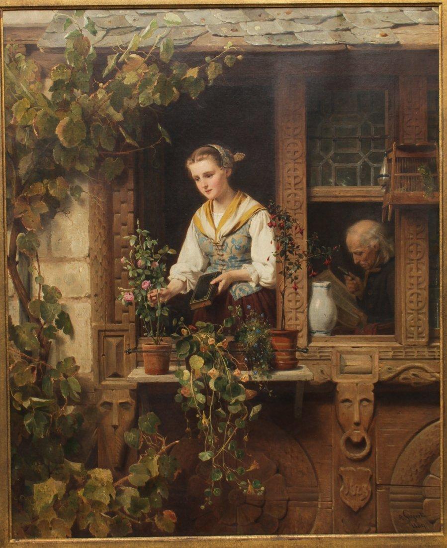 August Friedrich Siegert (German, 1820-1883)- Oil - 2