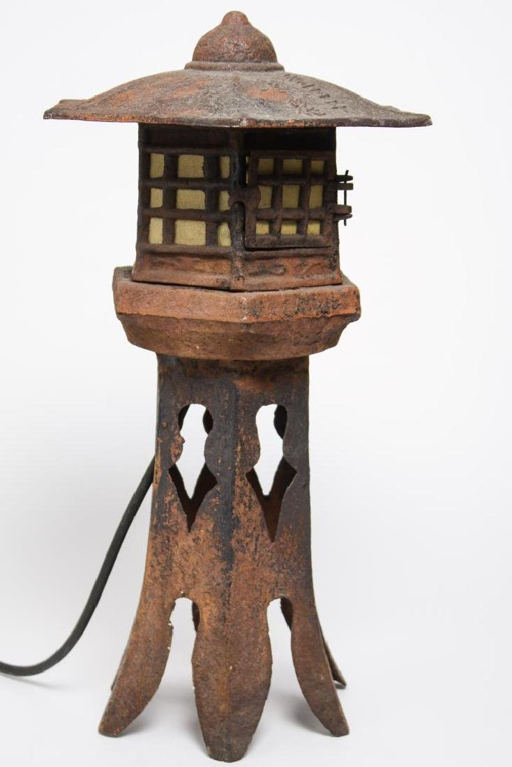 Cast Iron Table Lamp, Asian poss. Chinese