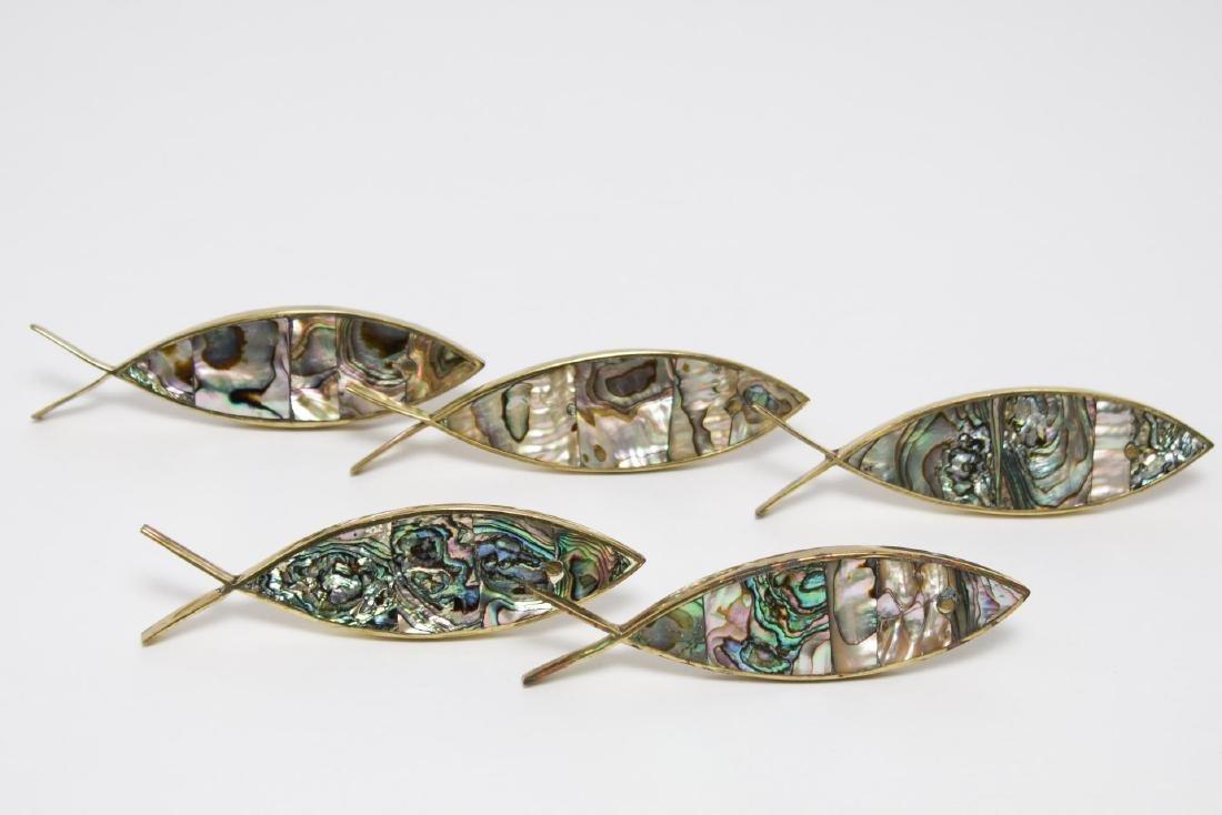 Los Castillo Mexican Drawer Pulls, 5 in Fish-Form