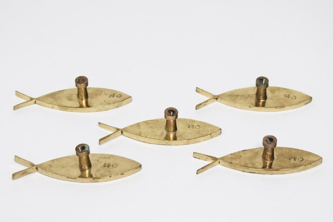 Los Castillo Mexican Drawer Pulls, 5 in Fish-Form - 2