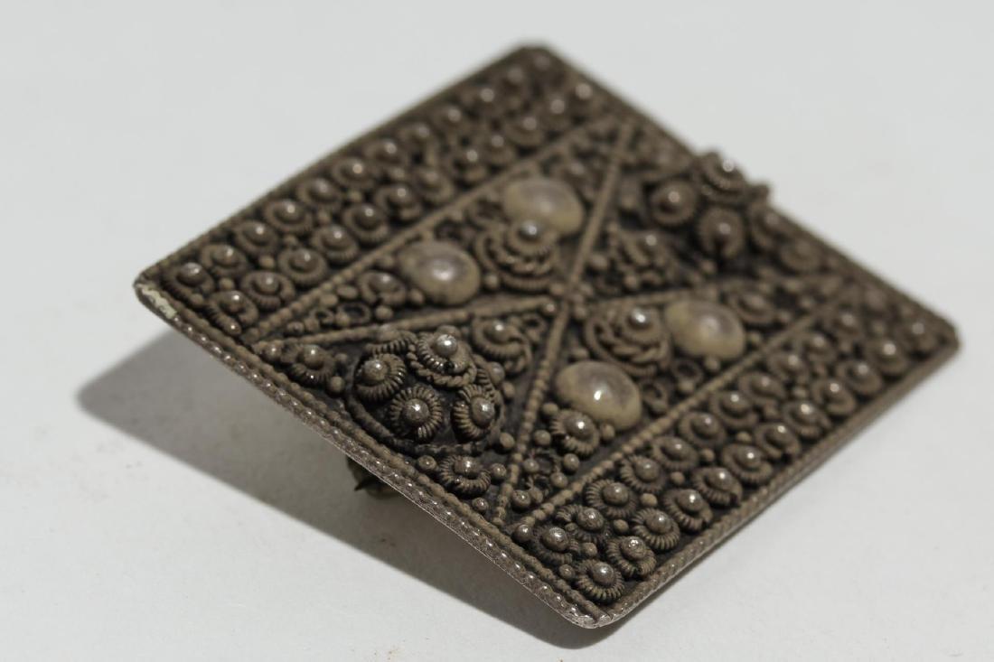 Middle Eastern Silver Brooch, Palestine, Vintage - 4