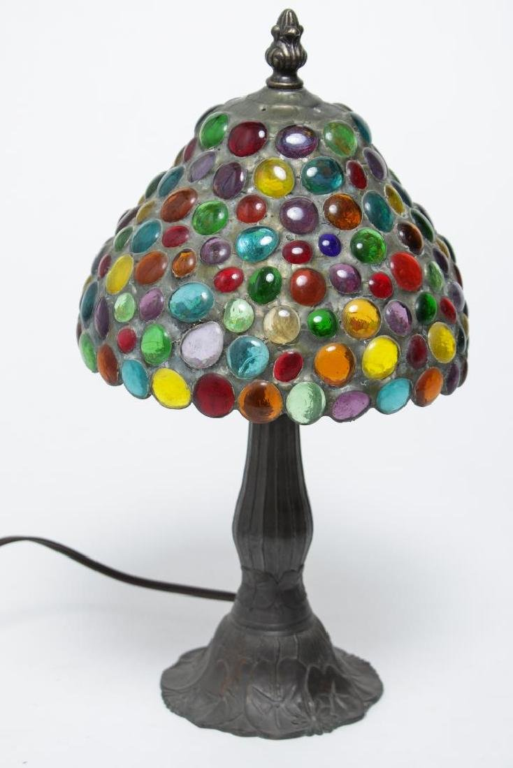 Handel-Manner Table Lamp, Metal with Pebble Shade