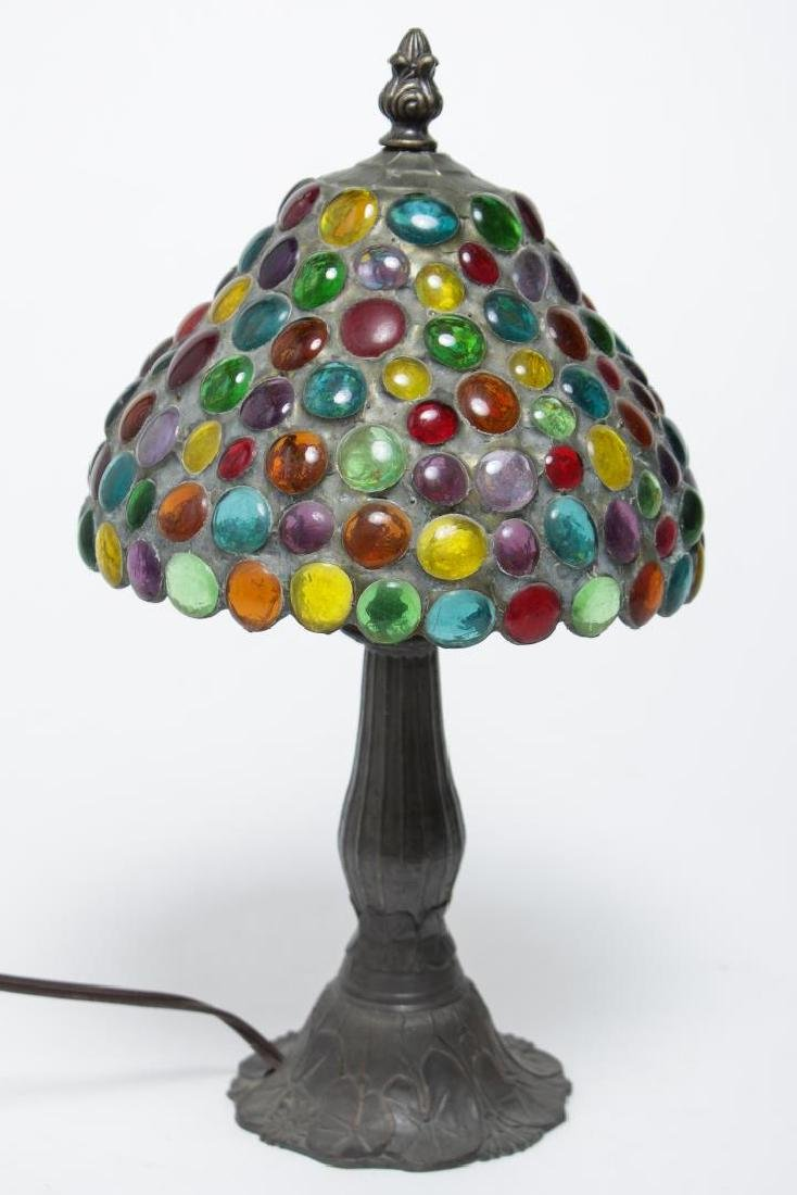 Handel-Manner Table Lamp, Metal with Pebble Shade - 2
