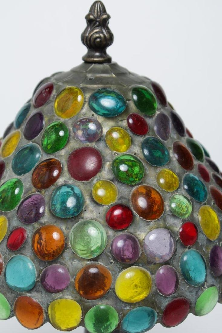 Handel-Manner Table Lamp, Metal with Pebble Shade - 3