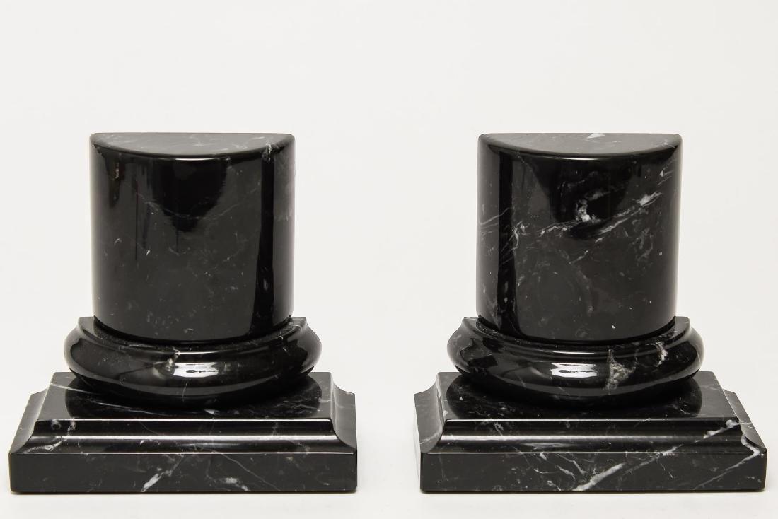 Italian Marble Columnar Bookends, Vintage - 2