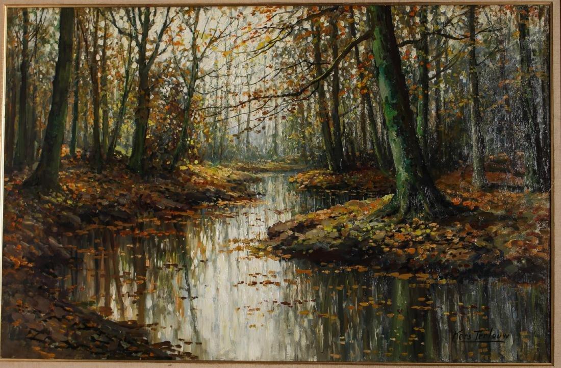 Kees Terlouw (Danish, 1890-1948)- Landscape Oil - 2