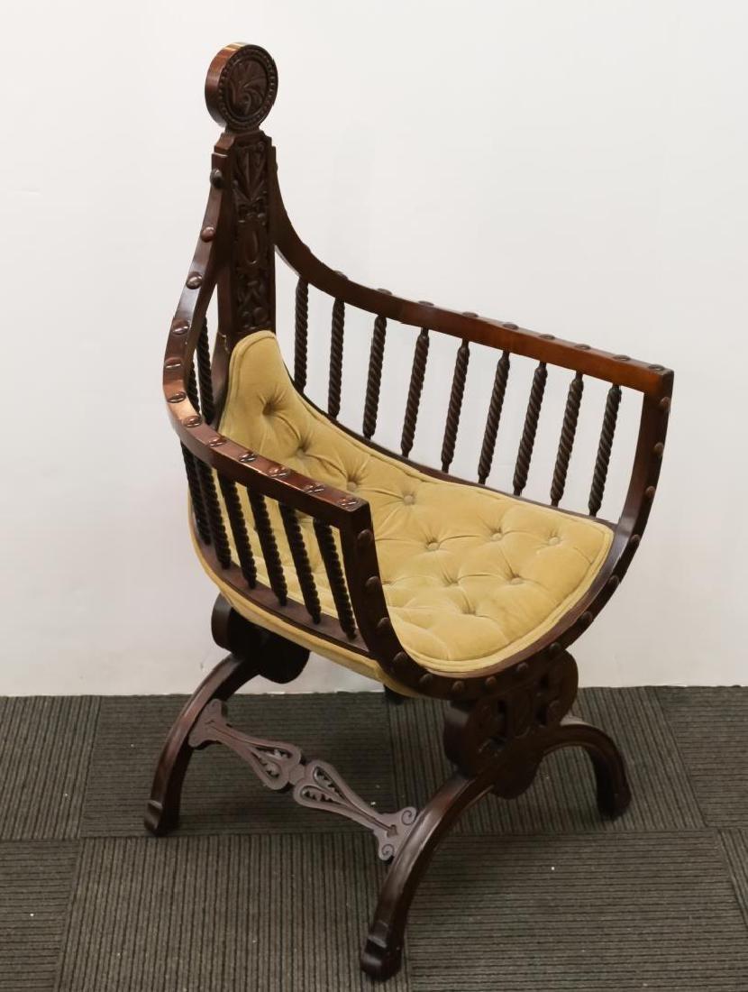 Renaissance Revival Savonarola Wood Chair