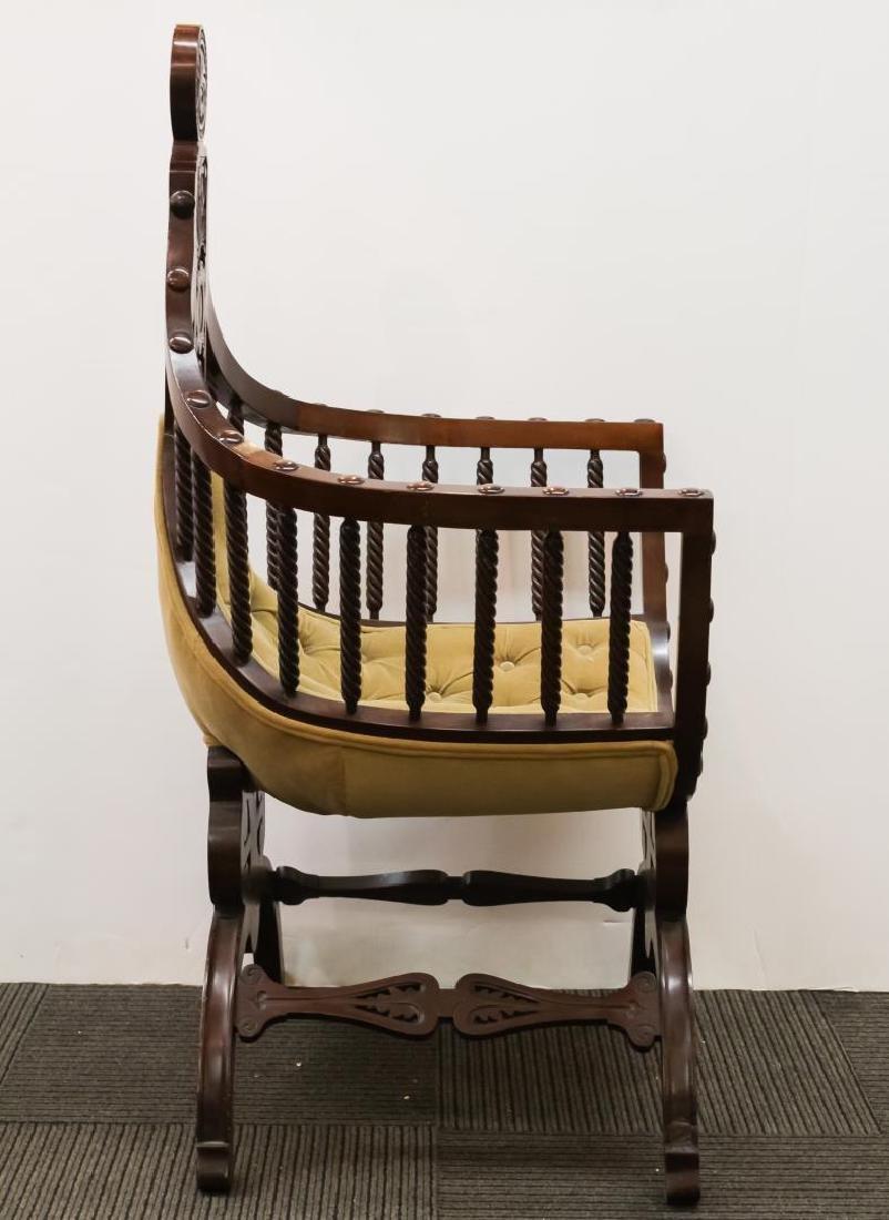 Renaissance Revival Savonarola Wood Chair - 3