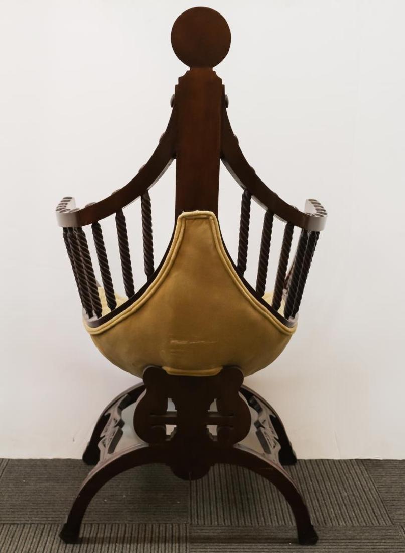 Renaissance Revival Savonarola Wood Chair - 4