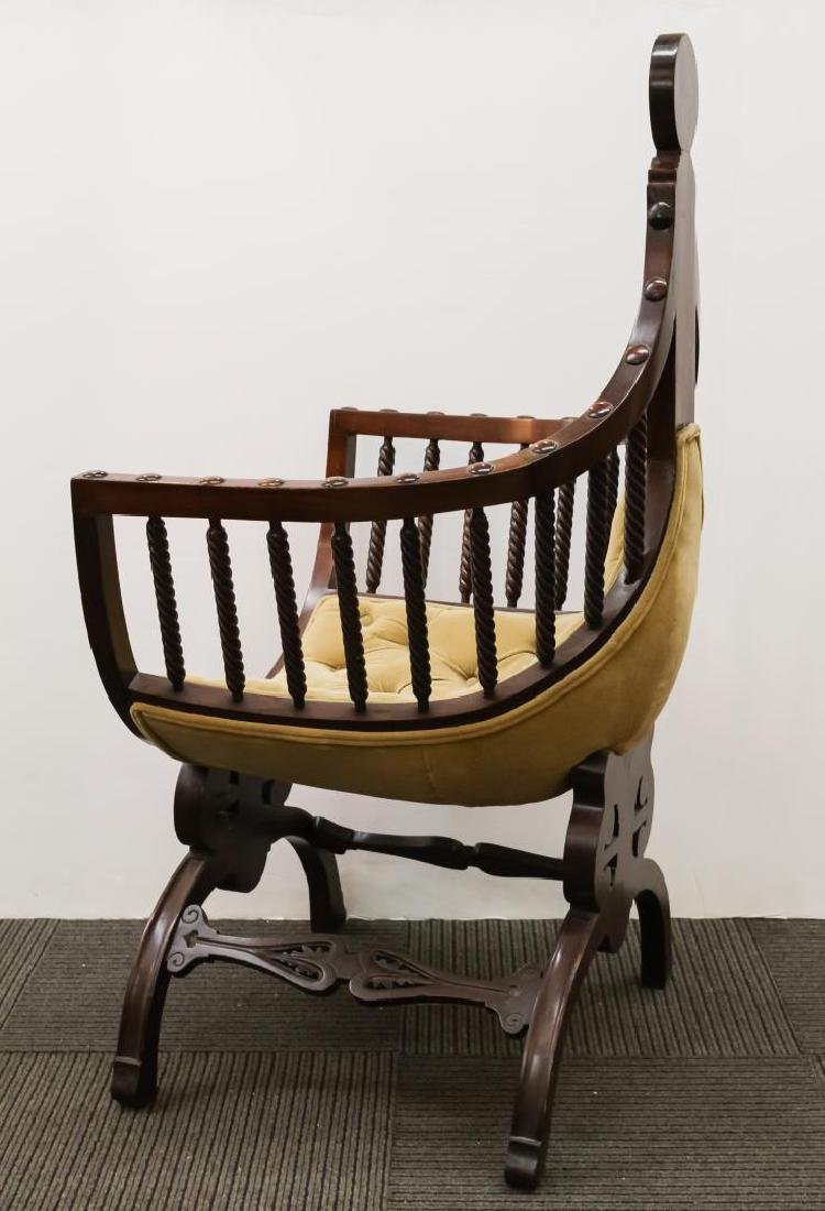 Renaissance Revival Savonarola Wood Chair - 5