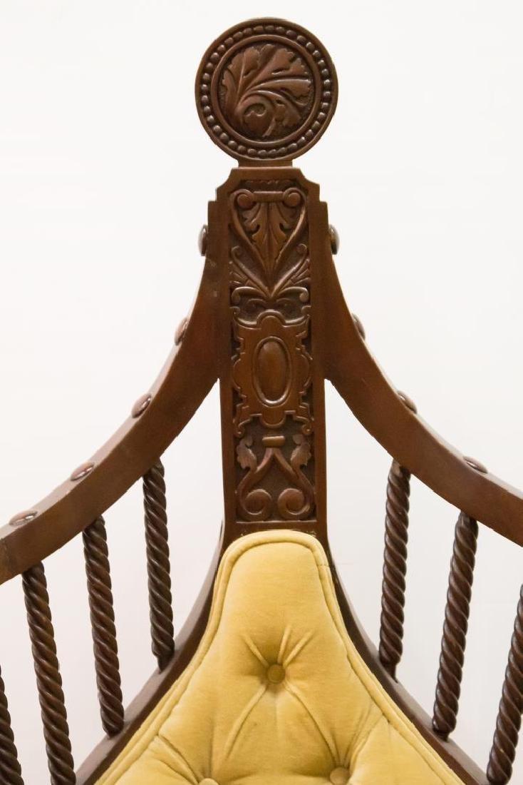 Renaissance Revival Savonarola Wood Chair - 7