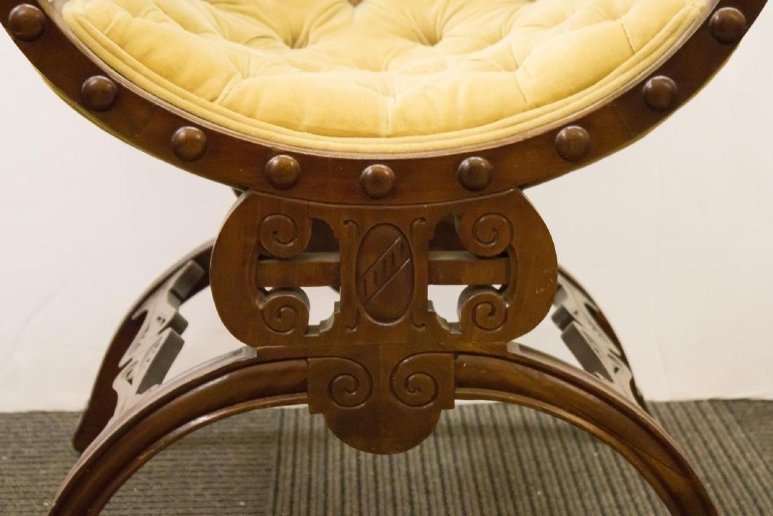 Renaissance Revival Savonarola Wood Chair - 8