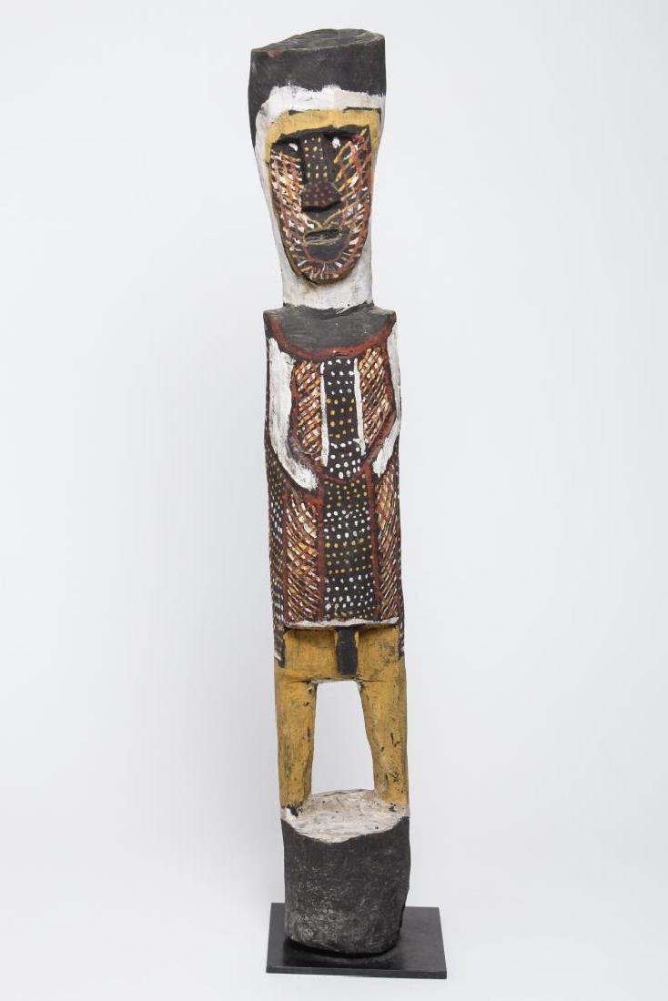 Polychrome Wood Figure, Ethnographic Sculpture