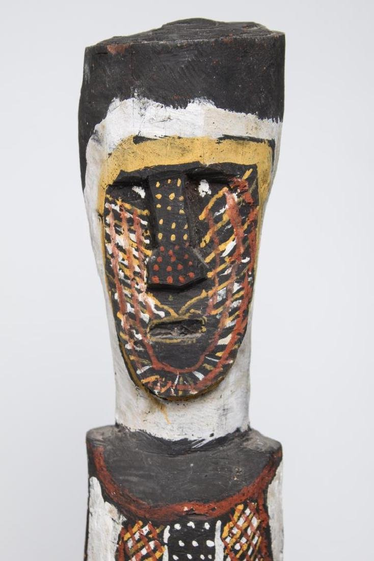 Polychrome Wood Figure, Ethnographic Sculpture - 2