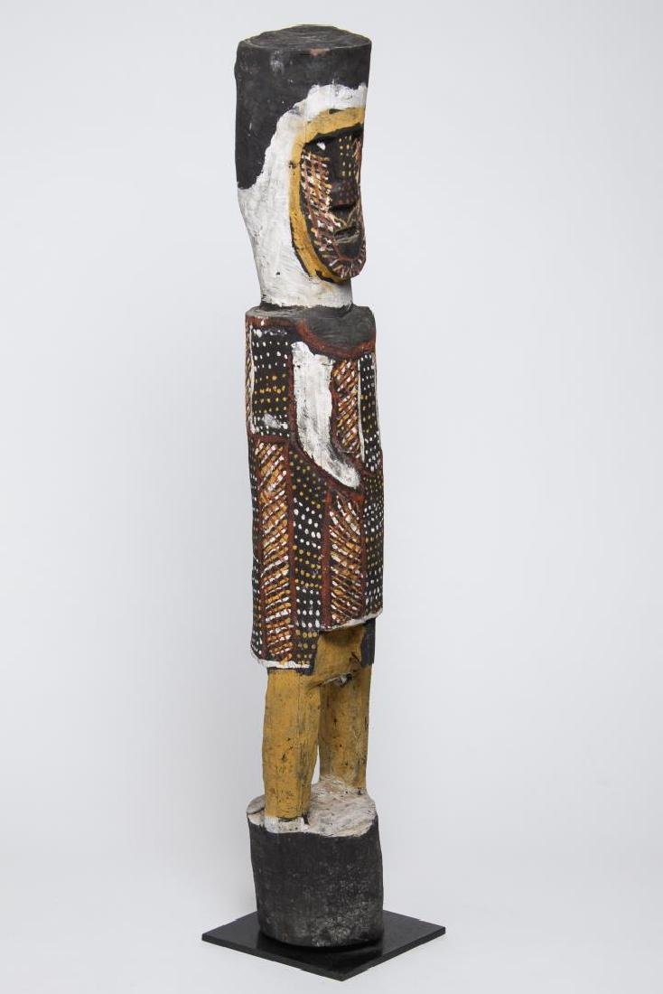 Polychrome Wood Figure, Ethnographic Sculpture - 3