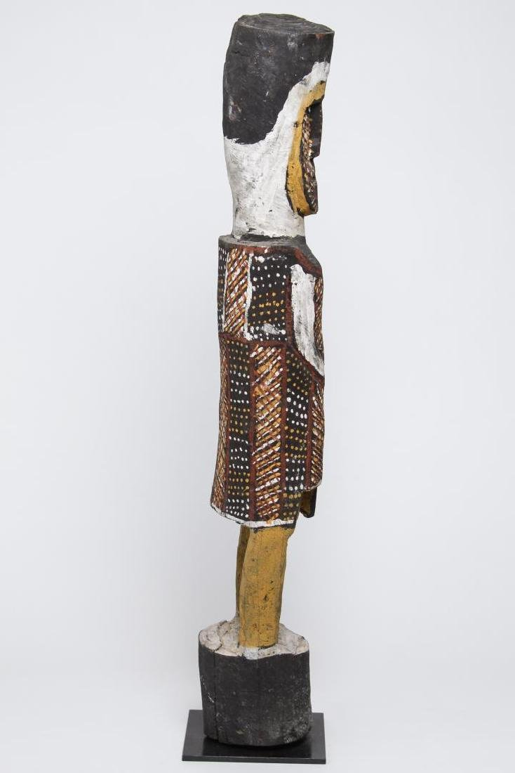 Polychrome Wood Figure, Ethnographic Sculpture - 4