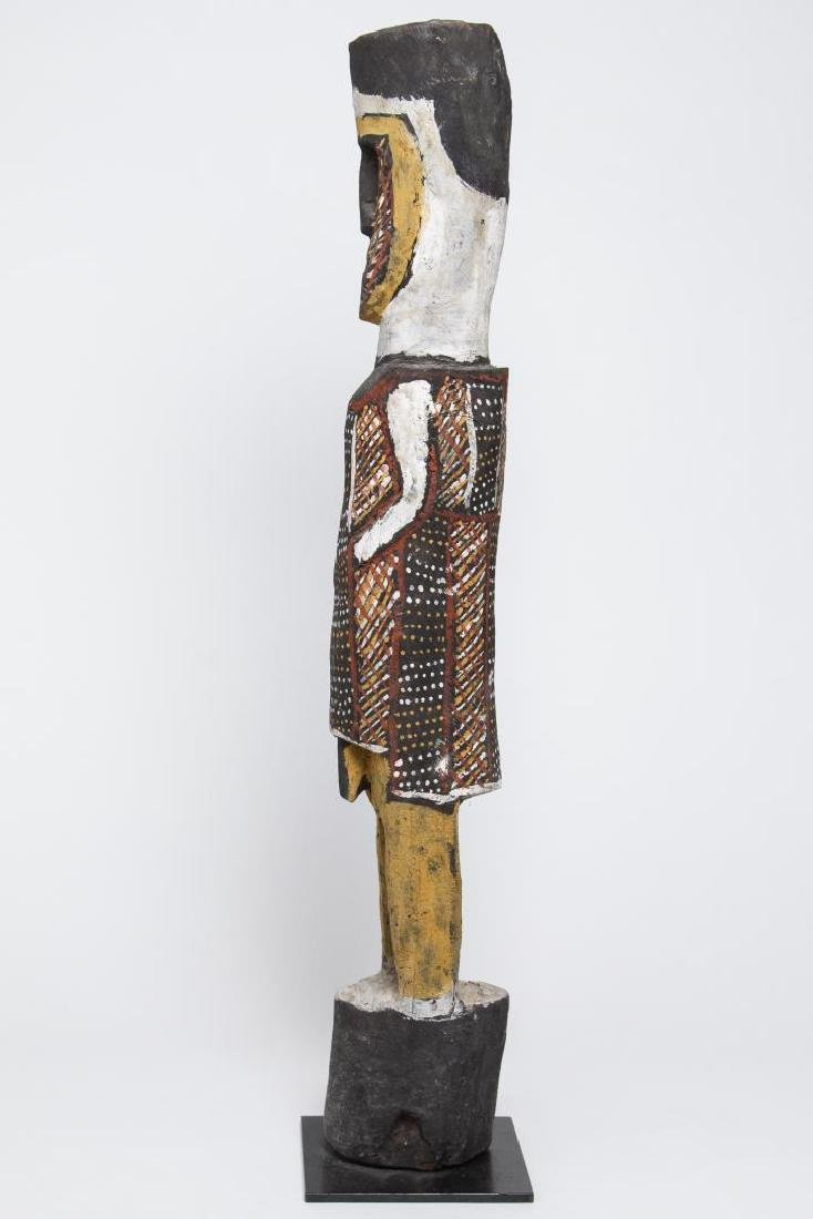 Polychrome Wood Figure, Ethnographic Sculpture - 6