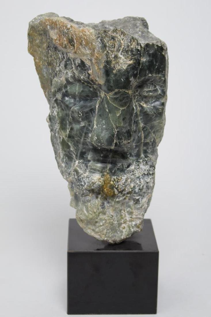 Mid-Century Modern Carved Stone Bust, Sculpture