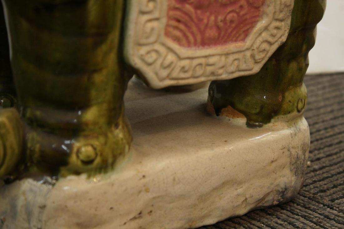 Vintage Ceramic Elephant Garden Seat or Stool - 7