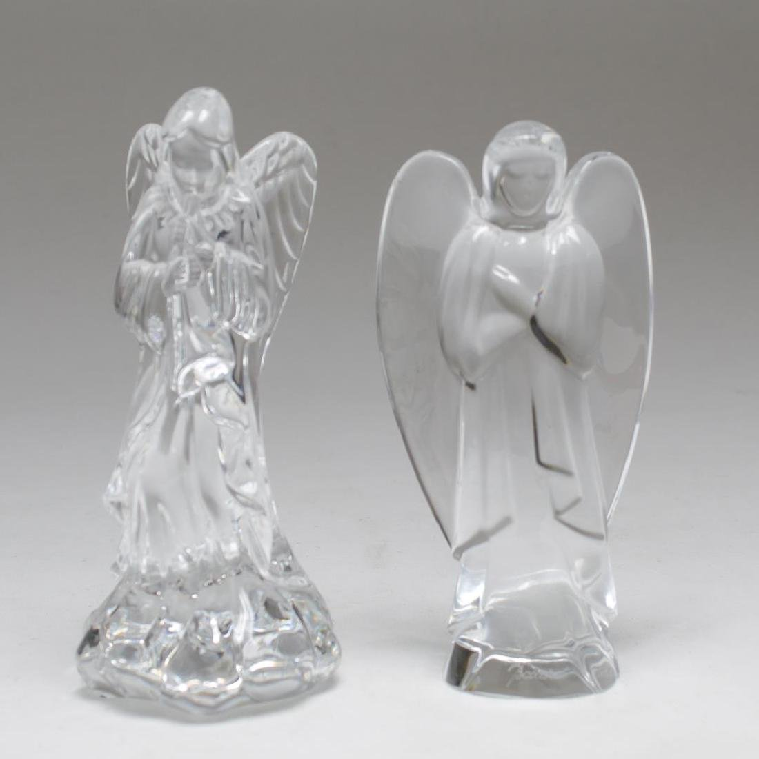 Baccarat & Waterford Crystal Praying Angel Figures