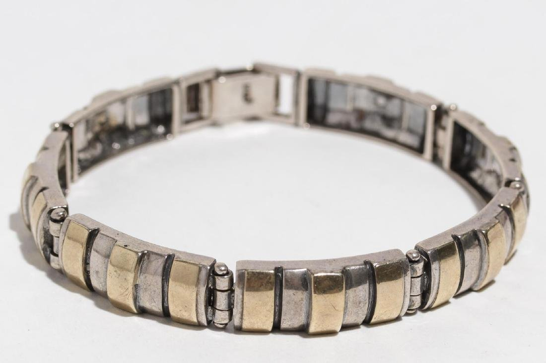 Sterling Silver Bracelet, with Vermeil Stripes