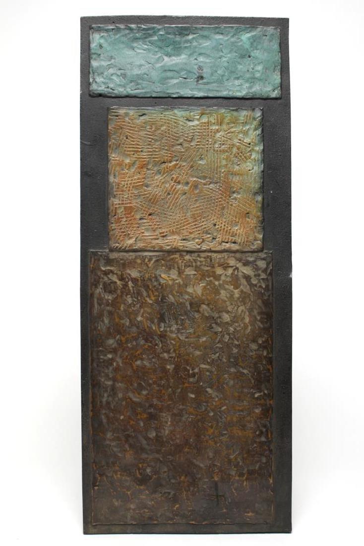 Brutalist Bronze Wall Sculpture, Mid-Century
