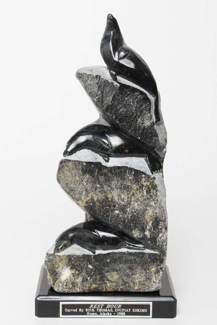 Rick Thomas Inupiat Eskimo Soapstone Sculpture