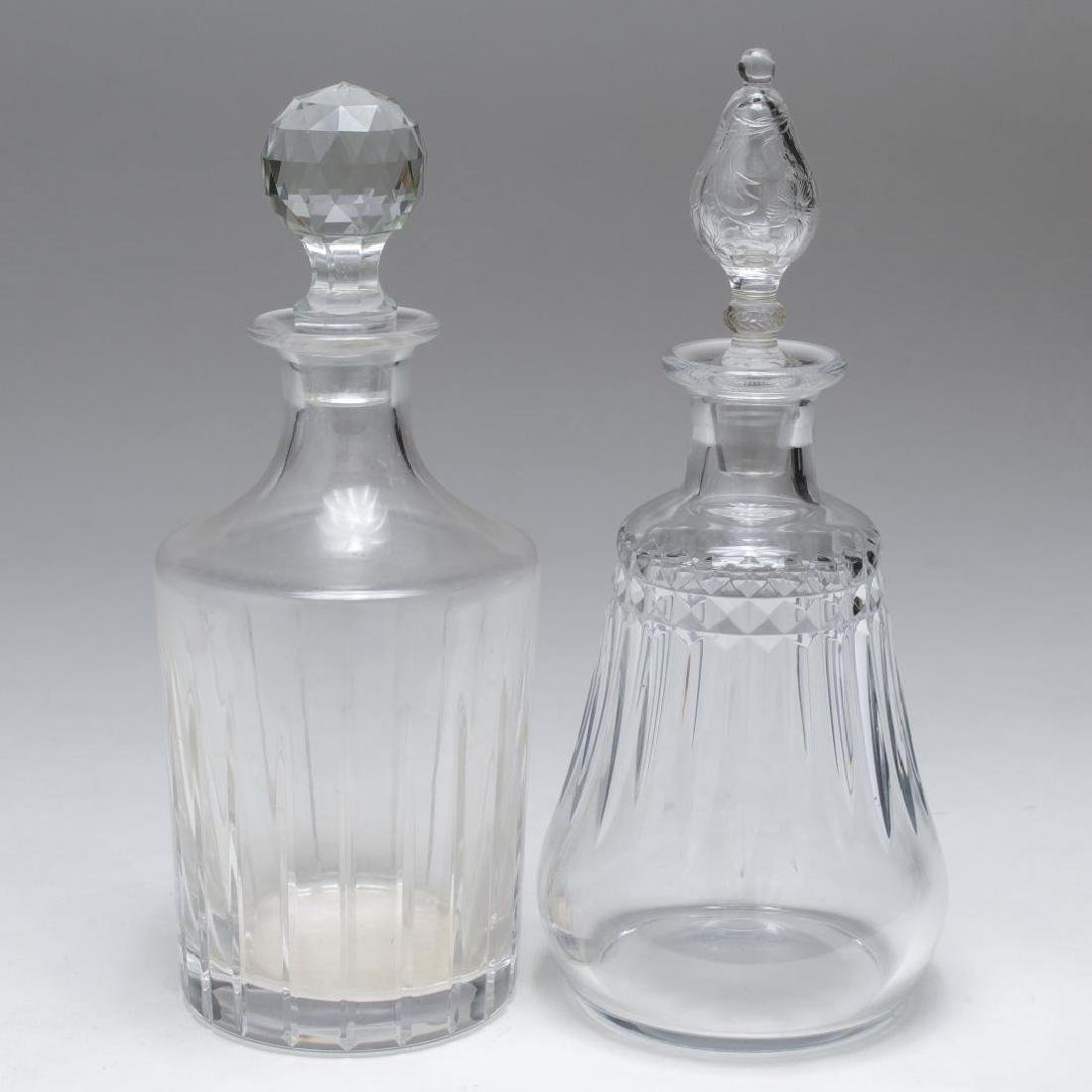 Christofle & Baccarat Lead Crystal Decanters, 2