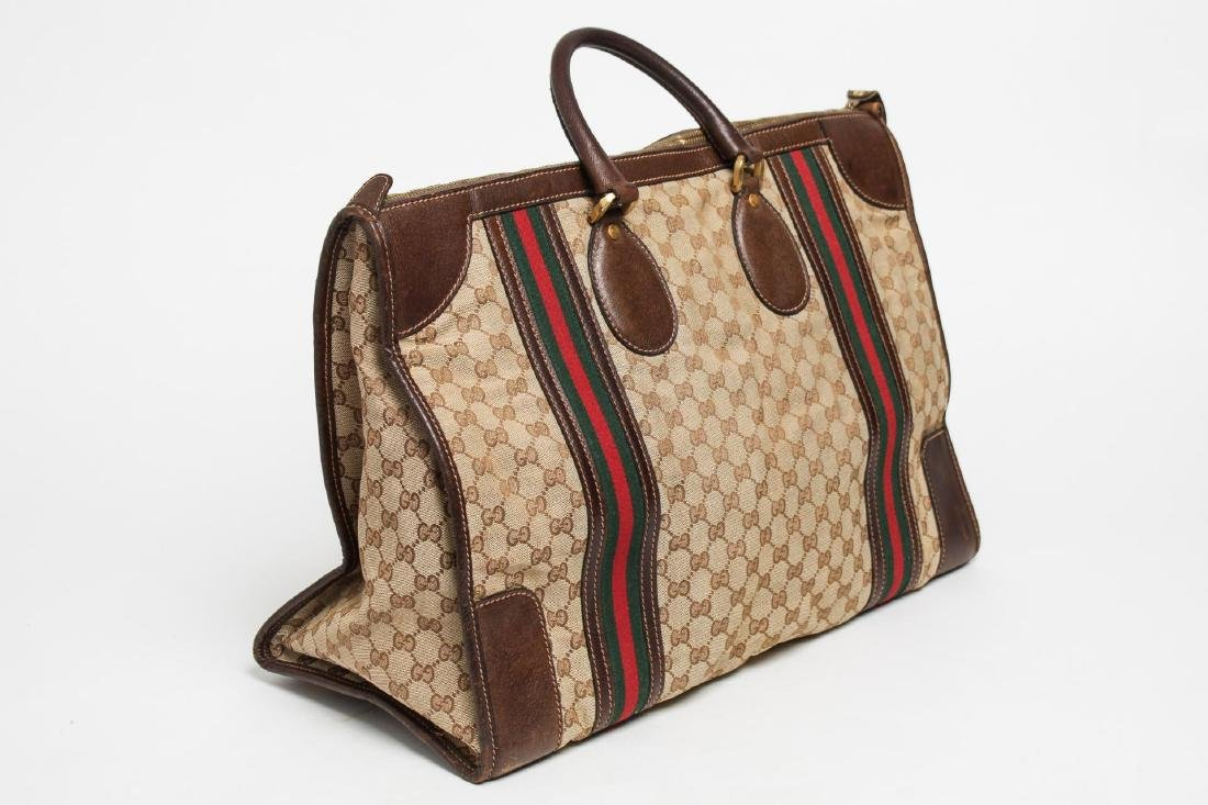 Vintage Gucci Travel Duffel Bag, Monogram Canvas - 2