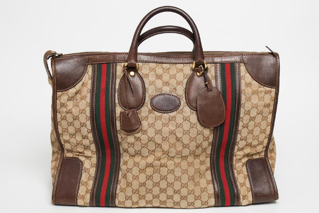 Vintage Gucci Travel Duffel Bag, Monogram Canvas - 3