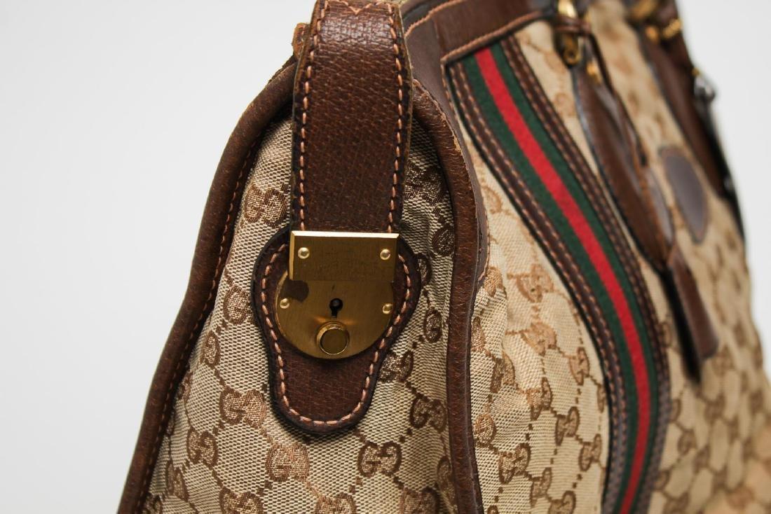 Vintage Gucci Travel Duffel Bag, Monogram Canvas - 5