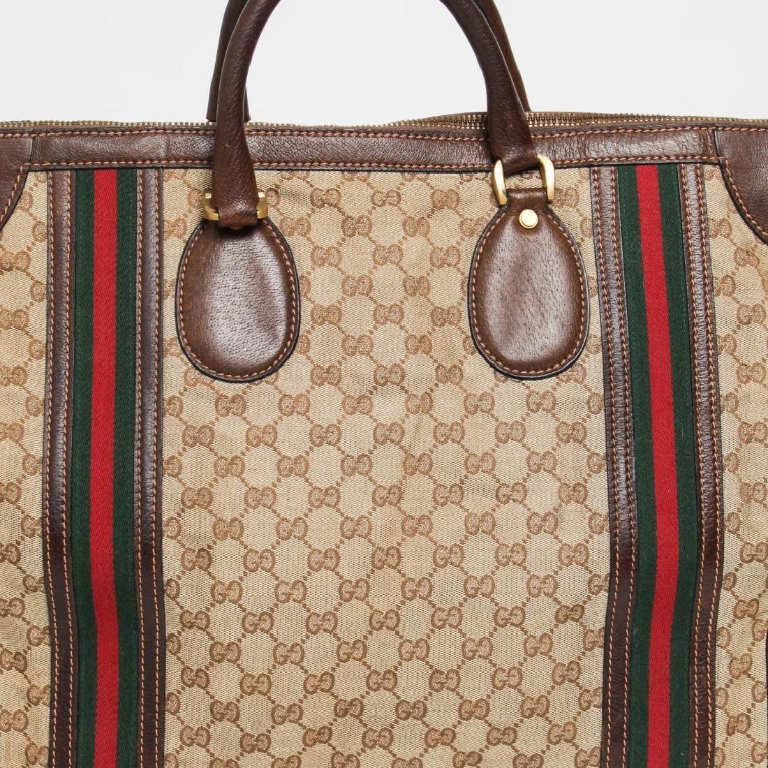 Vintage Gucci Travel Duffel Bag, Monogram Canvas - 6
