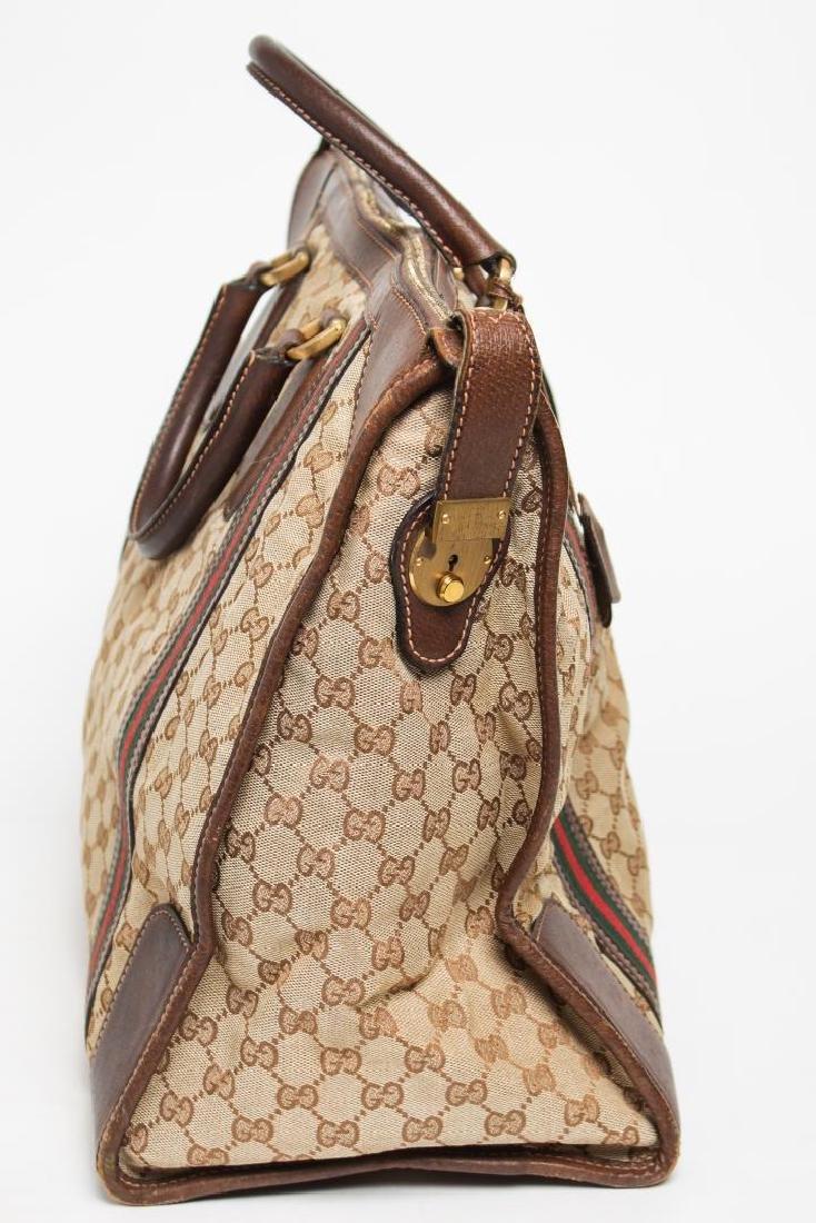 Vintage Gucci Travel Duffel Bag, Monogram Canvas - 8