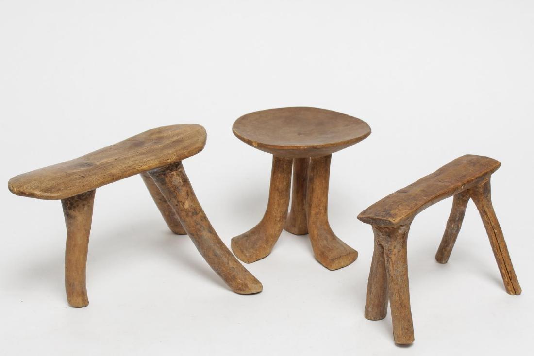 Tribal Ethnographic Carved Wood Headrests, 3