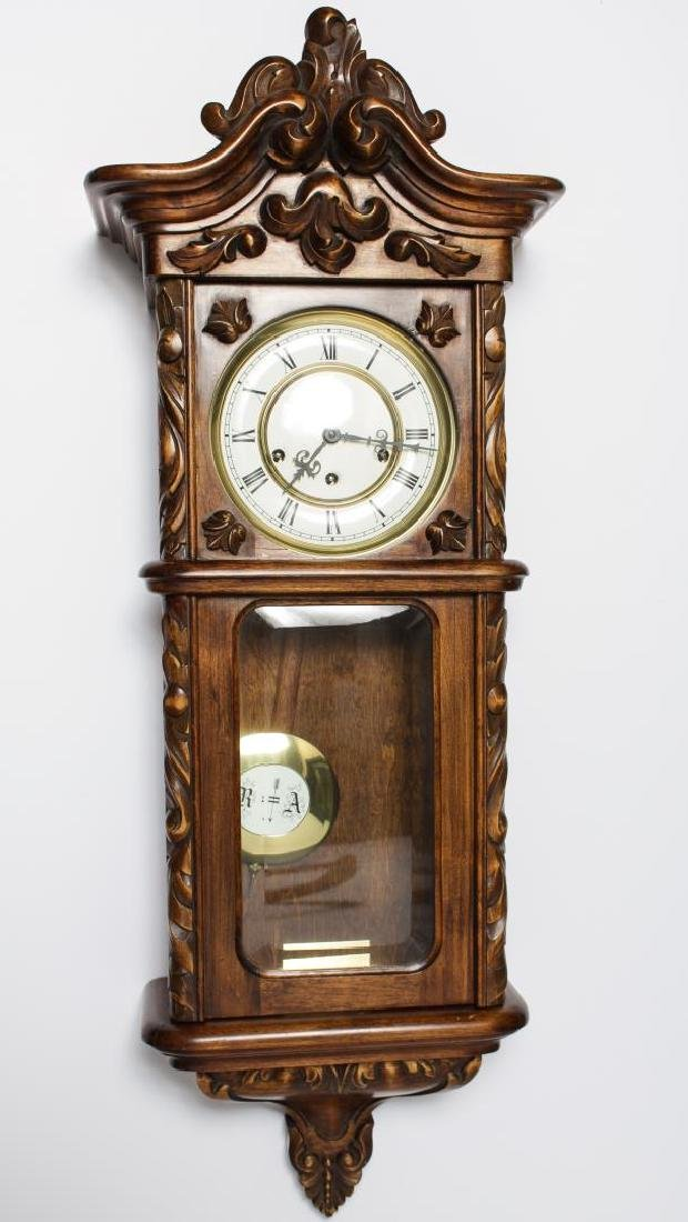 Vintage Carved Wood Wall Clock