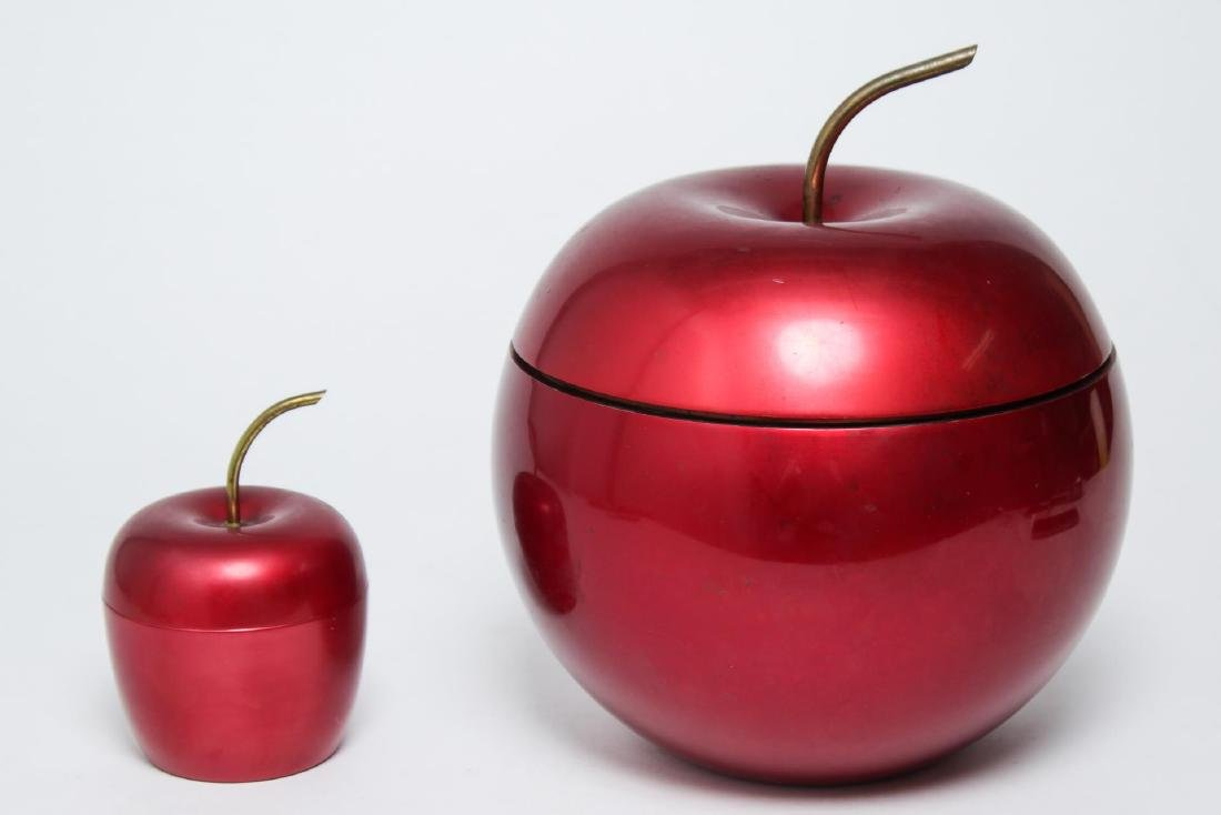 Art Deco Red Apple Ice Bucket & Cigarette Holder