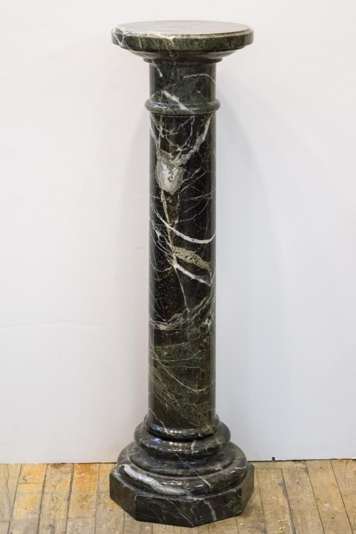 Neoclassical Green Marble Column