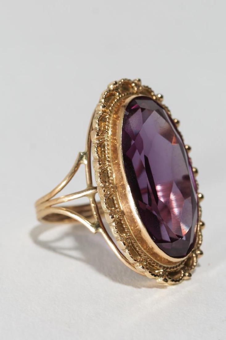 Alexandrite & 14K Gold Cocktail Ring