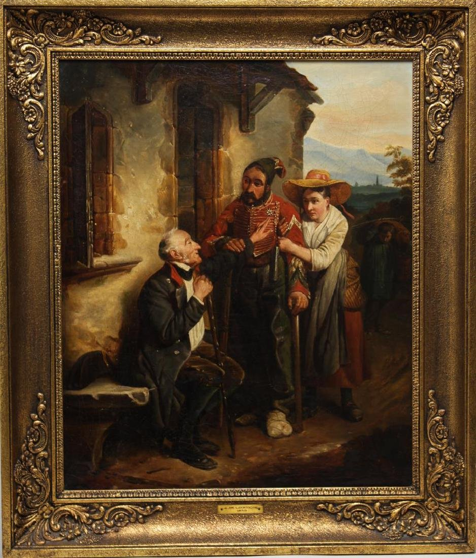 French Genre Painting, Manner of Grolleron, Oil