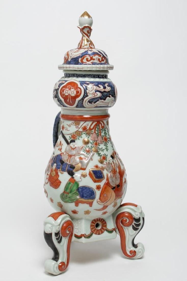 Antique Japanese Imari Porcelain Coffee Pot, 17th C.