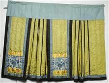 Chinese Qing Dynasty Mandarin Silk Skirt / Qun