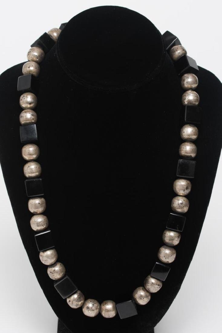 Jose Marmolejo Mexican Silver & Onyx Necklace