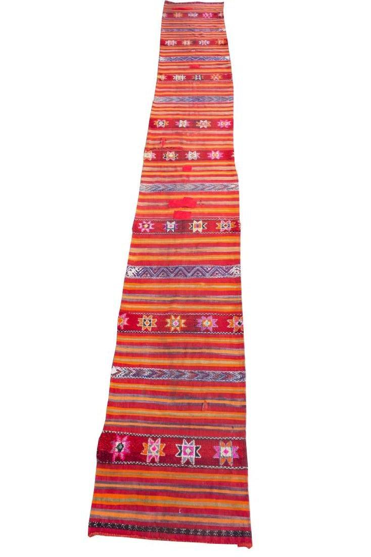 "Mexican Woven Wool Runner Rug, 2' 9"" X 20' 6"""