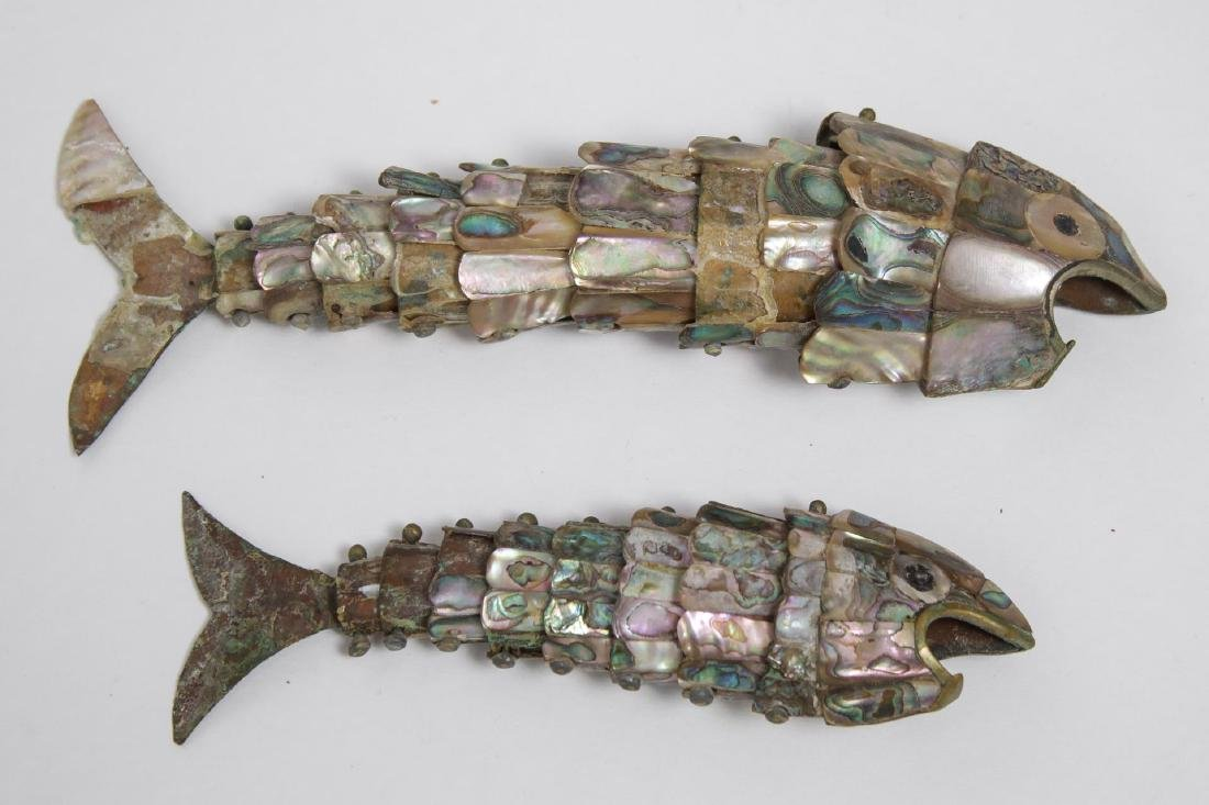 Mother-of-Pearl Articulated Fish Bottle Openers, 2